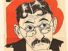 Vlasta Burian na dobovém plakátu k filmu Ducháček to zařídí.