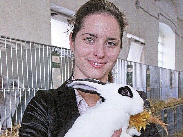 Lucie Zapletalová s chovem králíků začala relativně nedávno.