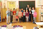 Žáci první třídy ze ZŠ Velký Borek paní učitelky Evy Klučinové.