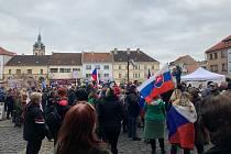 Ohlášená sobotní demonstrace v Mělníku, ukončil ji až tajemník městského úřadu.