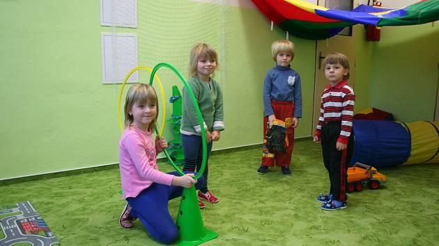Děti v nové třídě mšenské mateřské školy