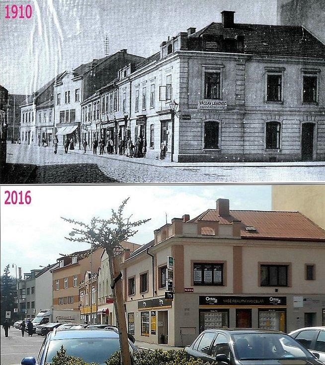 Roh Palackého náměstí a Palackého (Terschovy) ulice.
