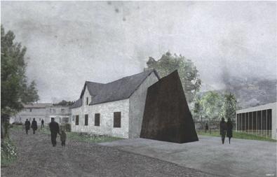 Vítězný návrh památníku. Poprvé se návštěvníkům otevře 21.srpna letošního roku.