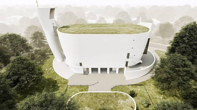 Moderní kostel od Zdeňka Fránka by měl v Neratovicích vyrůst během dvou tří let.