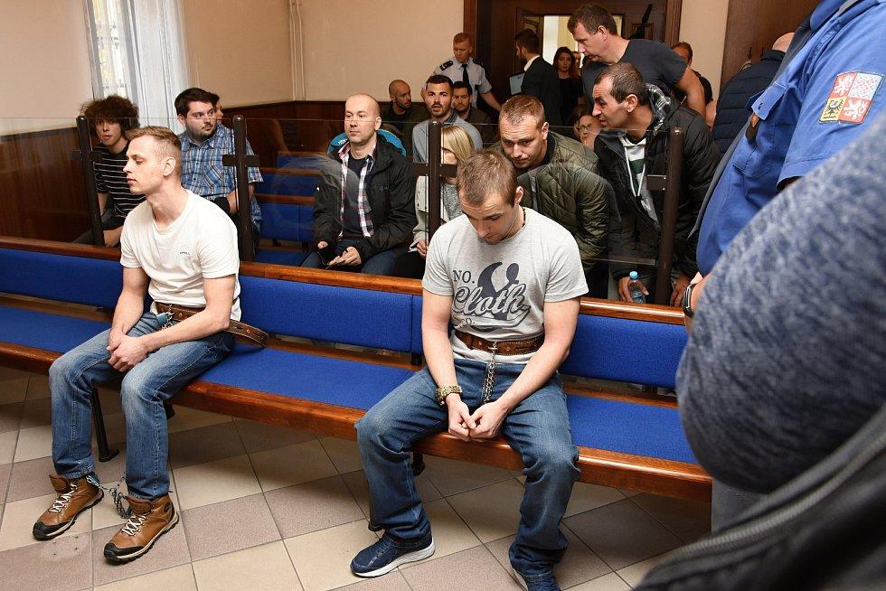 Devatenáctiletý trest za vraždu pumpařky při loupeži na čerpací stanici pohonných hmot u Nelahozevsi na Mělnicku, vyměřil Krajský soud 33letému recidivistovi Davidu Š. Druhý z lupičů, 27letý Ivan H., dostal za loupež čtyři roky.