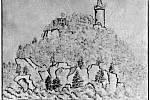 Kresba K. H. Máchy z roku 1832, okolí navštívil znovu v roce 1833.