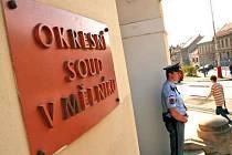 Okresní soud v Mělníku. Ilustrační snímek