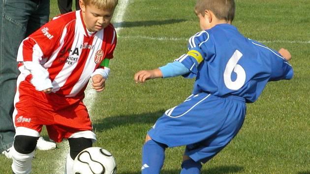 Ze sobotního turnaje mladších a starších přípravek v Byškovicích.
