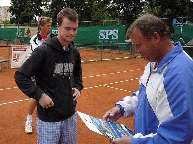 Jan Šátral se svým otcem a zároveň prvním tenisovým trenérem.