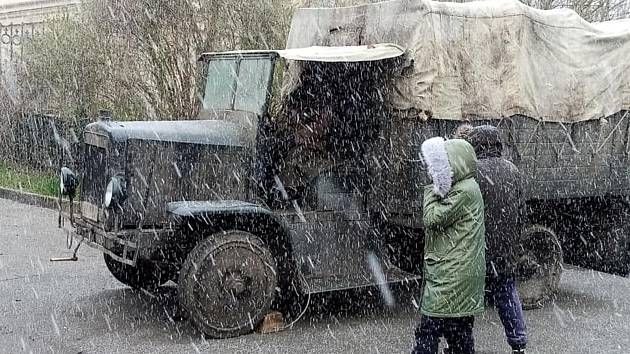 Natáčení filmu Na západní frontě klid v Hoříně