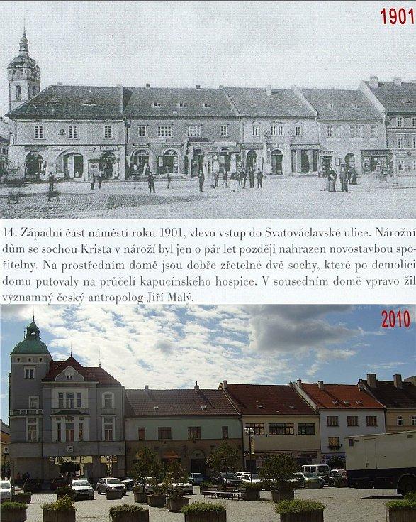 Západní část náměstí a vstup do Svatováclavské ulice