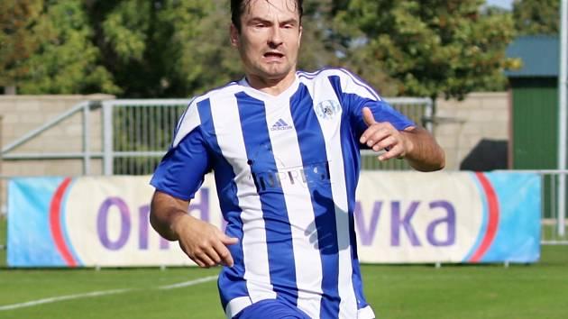 Jaroslav Škoda v dresu Sokola Libiš.