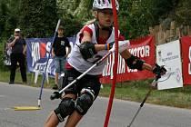 Kralupská závodnice Juliana Šindelářová spěje k vítězství v Českém poháru 2011.