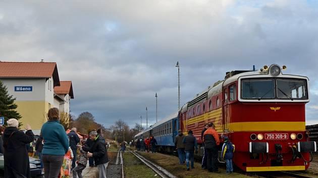 Slavnostní otevření tratě Mšeno - Mělník.