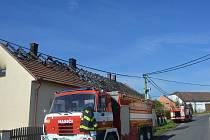 Požár řadového rodinného domu v obci Zelčín