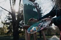 Malování v plenéru - ilustrační