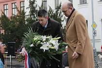 Vzpomínka na Jana Palacha a Ryszarda Siwiece v Mělníku.