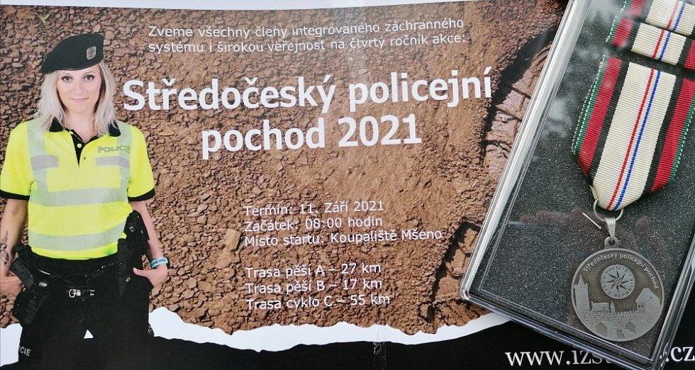 Ze 4. ročníku Středočeského policejního pochodu.