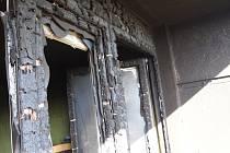 Požár balkonu v Neratovicích.
