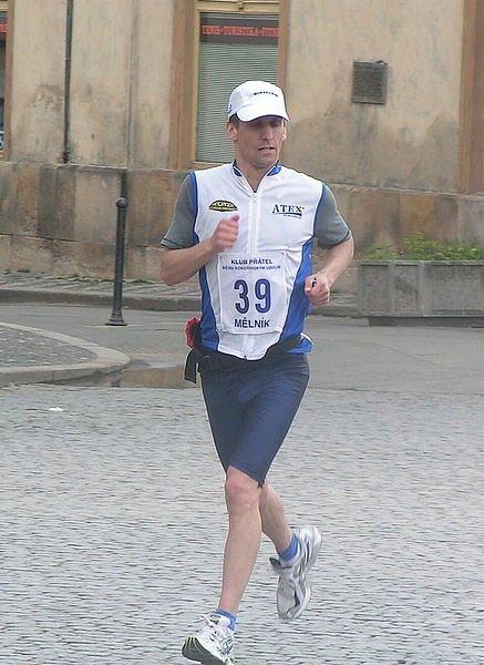 Vítěz 14. Mělnického Maratonu Míru - Martin Rexa.