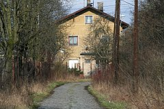 Cesta k liběchovskému vlakovému nádraží