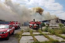 Požár haly v Tursku.