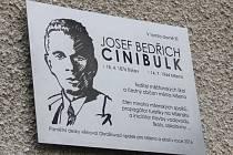 Odhalení pamětní desky J. B. Cinibulka