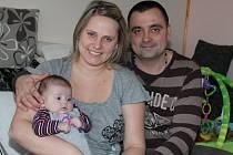 Ella Uhrová s rodiči Michaelou a Václavem.