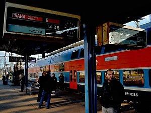 Začíná výluka na železniční trati do Prahy