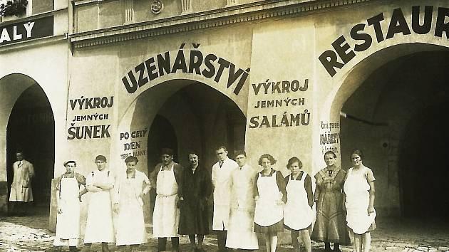 Růzhova firma, snímek je z poloviny 30. let 20. století.