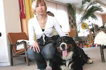 Canisterapeutický tým, fenka Andulka s Lucií Černou.