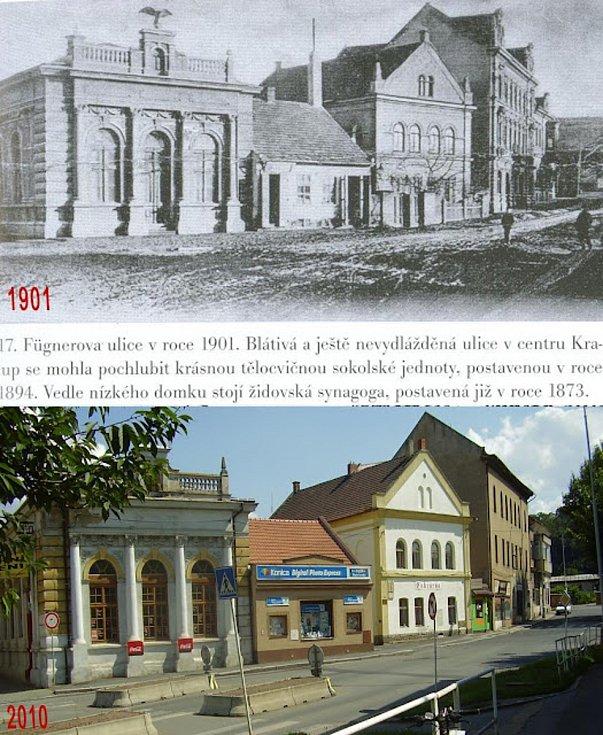 Bývalá sokolovna a synagoga v ulici S. K. Neumanna.