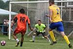 Přípravný turnaj v Tuhani, z utkání Obříství (ve žlutém) - Dřínov (5:0)