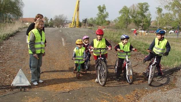 Děti na dopravním hřišti