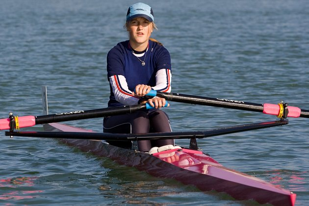 Denisa Čvančarová při MČR ve sprintu