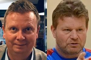 Kandidáti na předsedu Středočeského krajského fotbalového svazu: Josef Novák a Tomáš Neumann