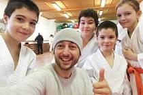 Filip Suk se svými svěřenci