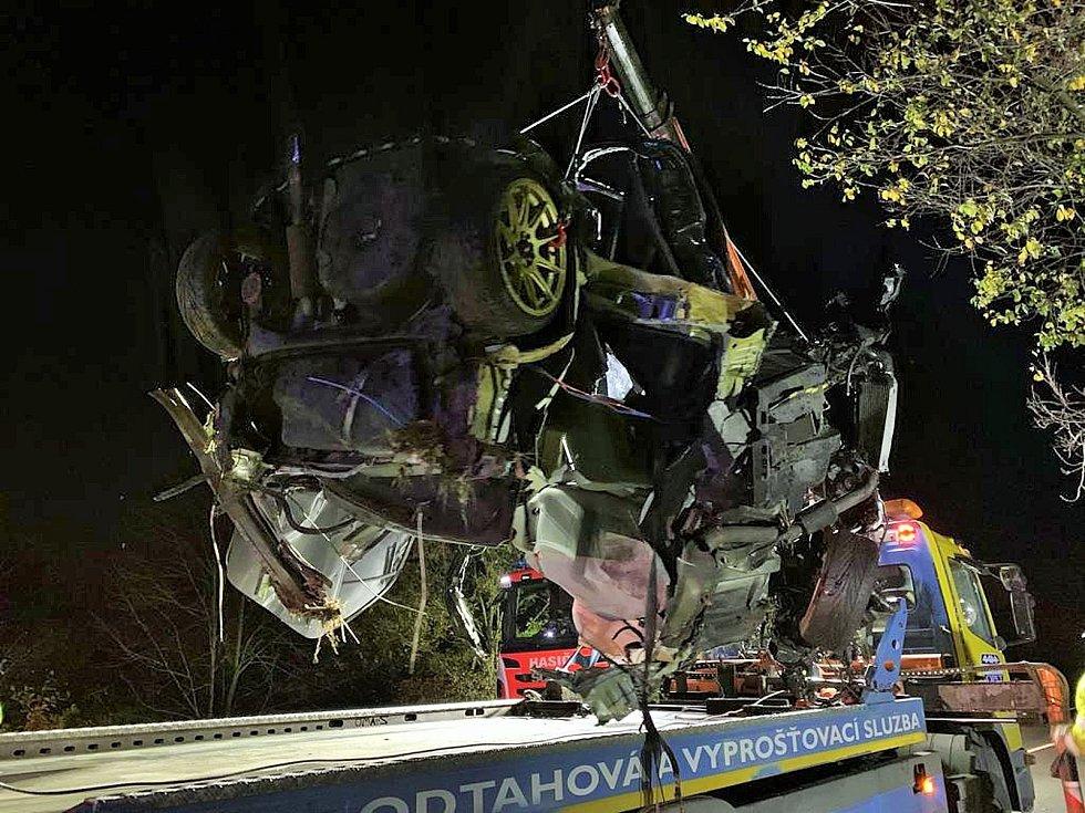Tragická dopravní nehoda u Zlonína.