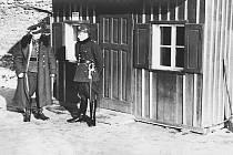 Mělník - Vehlovice. Hraniční přechod mezi zbytkem Československa a Německou říší v roce 1938.