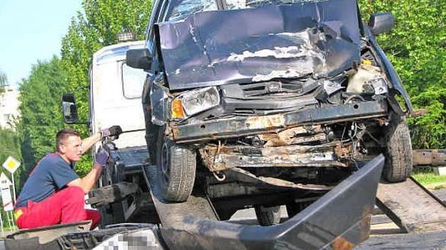 Foto z raní nehody