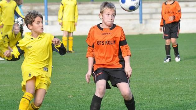Z utkání Danone Cupu mladších žáků mezi OFS Kolín a OFS Mělník