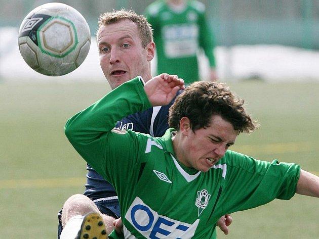 Ligový rozhodčí Milan Matějček ještě coby aktivní hráč Sokola Ovčáry.