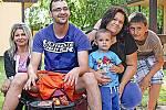 Eva Šmejcká s rodinou je ráda, že na chvíli vypadla z Prahy.