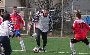 Z přátelského utkání Mšeno - Kokonín (1:4).