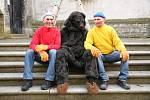 2017 Mělnický masopust - Pat a Mat dali řeč s medvědem:-)
