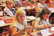 Žáci 1. třídy ZŠ Mšeno.