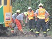 Traktor se srazil v létě roku 2015 s vlakem na železničním přejezdu u Byšic. Oba vagony pak vykolejily. Zraněna byla průvodčí a jedna z cestujících.