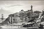 Veduta Kokořín, polovina 19. století