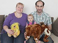 Hlasy Anežce posílali nejen její rodiče Petra Romanová a Martin Batryniuk, ale všichni příbuzní a známí.