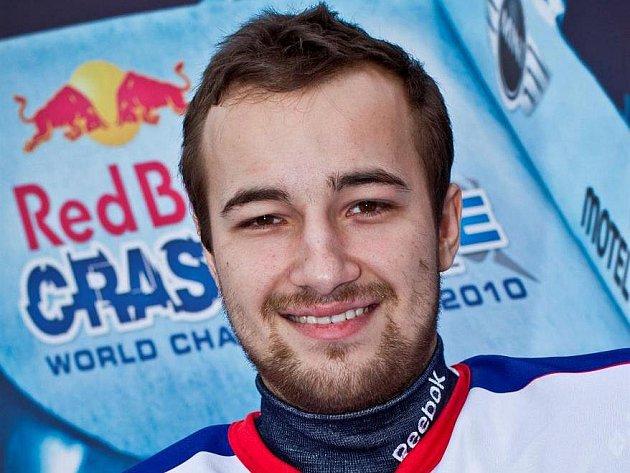 Lukáš Kolc při závodě Red Bull Crashed Ice.